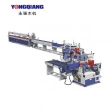广东永强木机-FJL150-8D全自动连续式梳齿、涂胶、齿接生产线