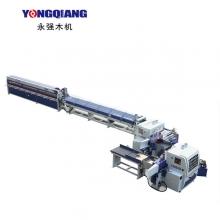 广东永强木机-FJL150-9E全自动连续式梳齿涂胶齿接生产线