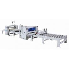 高光膜PUR热熔胶贴面机生产线