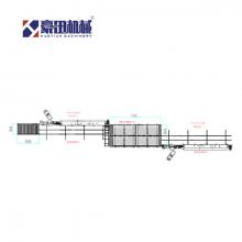 豪田机械—双排滚筒履带式封边机左右机连线  (封边线)